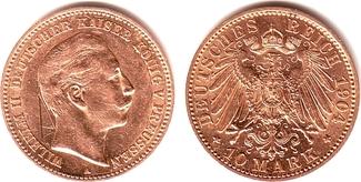 10 Mark 19012 A Preussen Kaiser Wilhelm II. vz/ Kr.