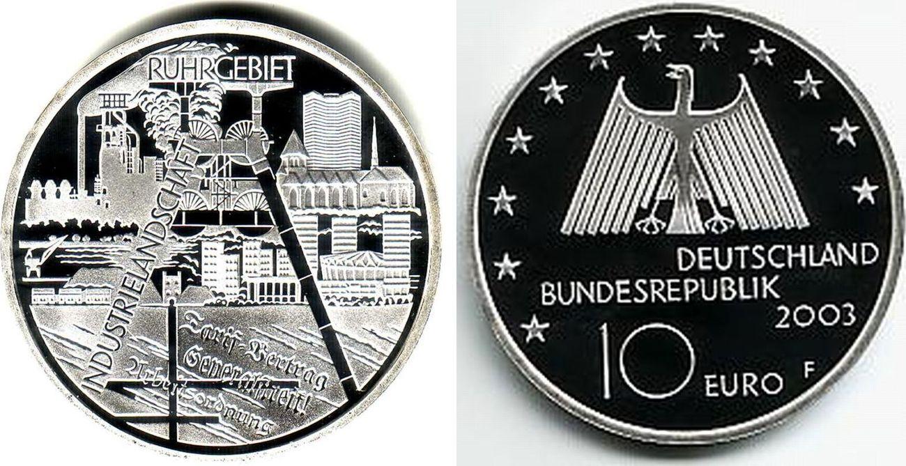 10 Euro 2003 Deutschland Industrielandschaft Ruhrgebiet Pp Ma Shops
