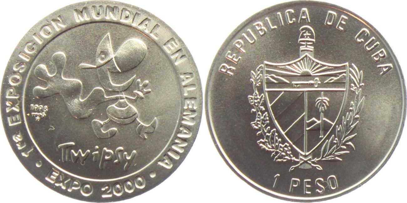 1 Peso 1998 Kuba Expo 2000 Maskottchen St Ma Shops