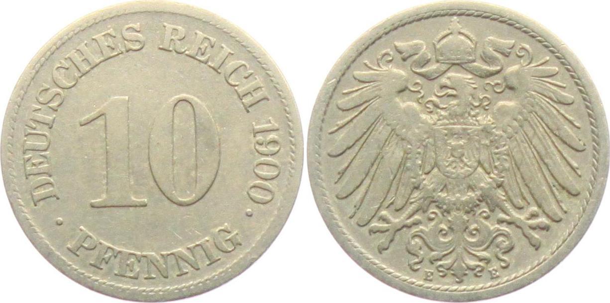 Afbeeldingsresultaat voor 10 pfennig 1900 E