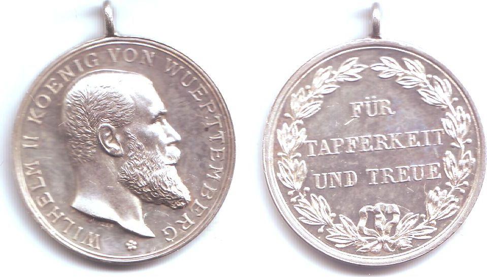 Medaille 1891 1918 Württemberg Silbermedaille Für Tapferkeit Und