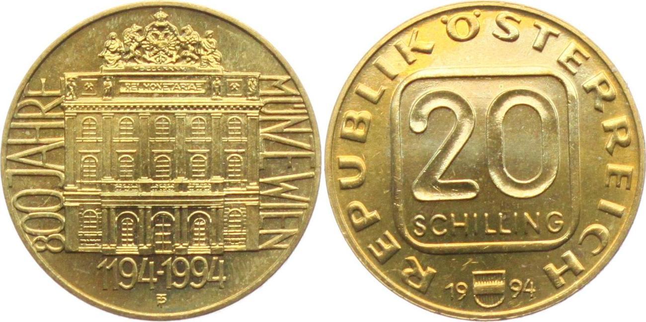20 Schilling 1994 österreich 800 Jahre Münze Wien Unc Ma Shops