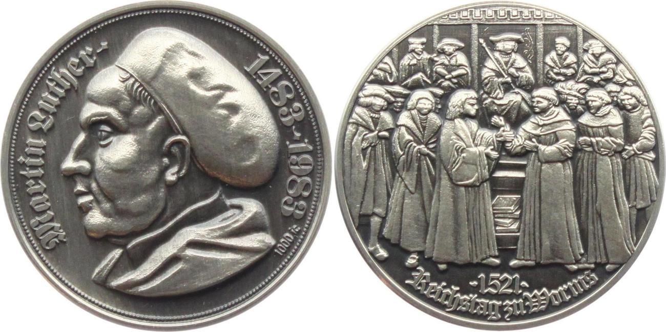 Silbermedaille 1983 Deutschland Martin Luther Reichstag Zu Worms
