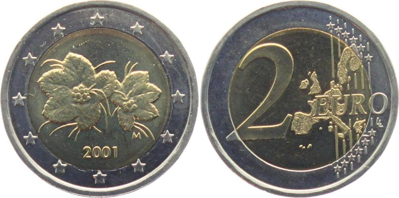 2 Euro 2001 Finnland Moltebeere Bankfrisch Ma Shops