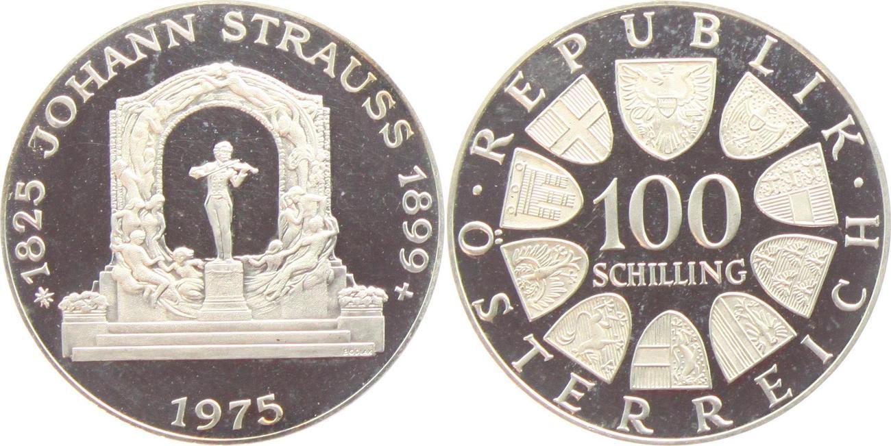 100 Schilling 1975 österreich Johann Strauss Pp Ma Shops