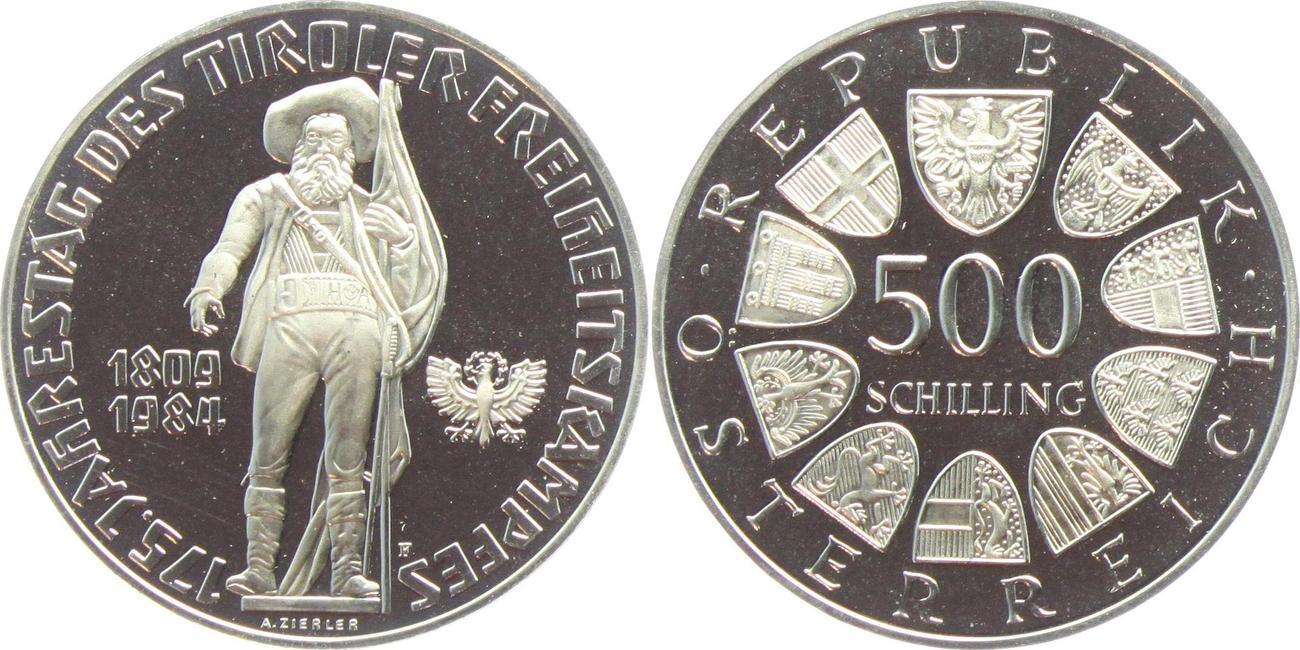 500 Schilling 1984 österreich 175 Jahrestag Des Tiroler