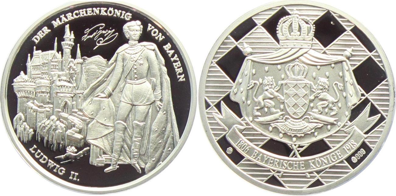 Medaille Ohne Jahr Bayern Gedenkprägung König Ludwig Ii Bayern