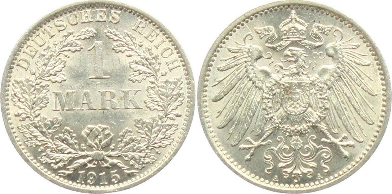 1 Mark 1915 A Kaiserreich 1 Mark Großer Adler Fst Ma Shops