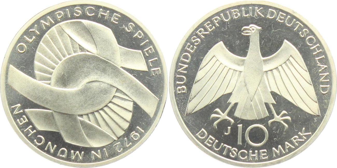 10 Mark 1972 J Deutschland Olympische Spiele 1972 In München