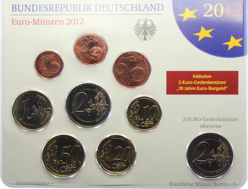 588 Euro Kms Im Blister 2012 A Deutschland Euro Kursmünzensatz