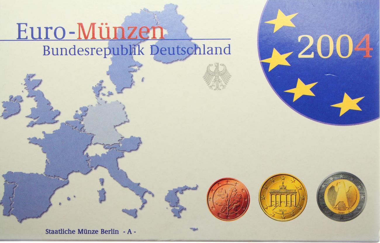 3 88 euro kms in plastikbox 2004 a deutschland euro kursm nzensatz berlin pr gebuchstabe a. Black Bedroom Furniture Sets. Home Design Ideas