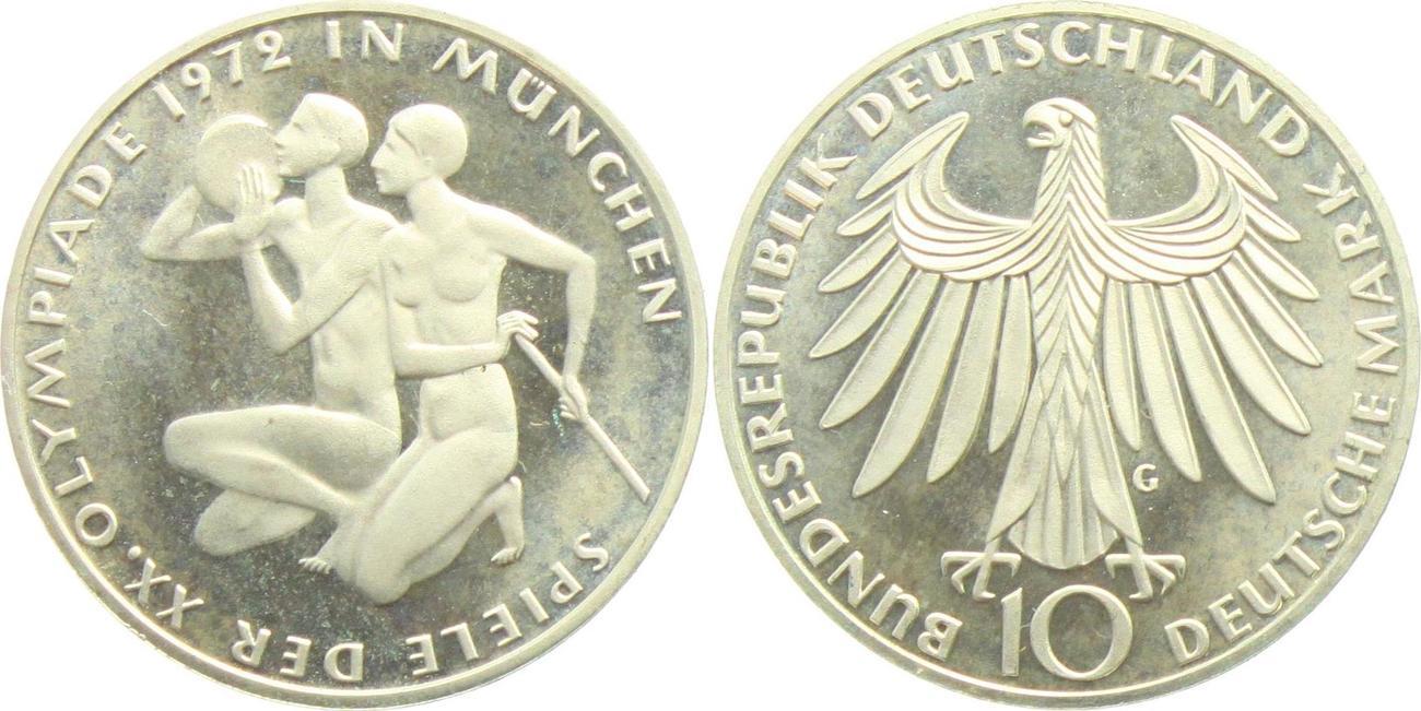 10 Mark 1972 G Deutschland Brd Olympische Spiele 1972 In München