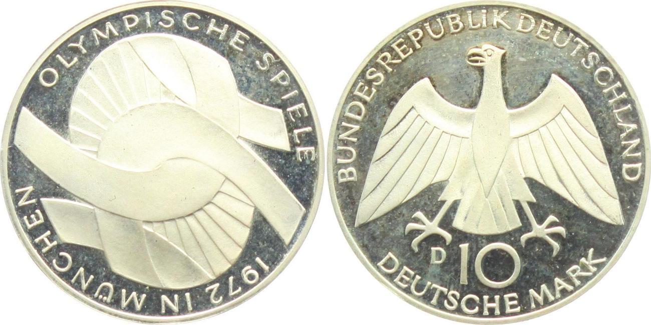 10 Mark 1972 D Deutschland Brd Olympische Spiele 1972 In München