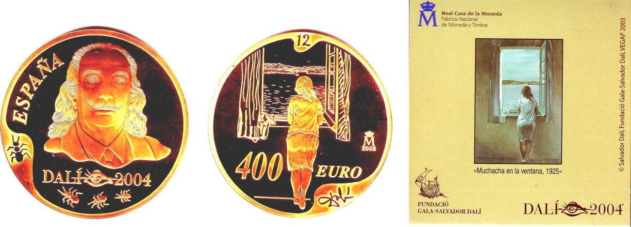 400 euro 2004 spanien salvador dali junges m dchen am for Fenster schnelle lieferung