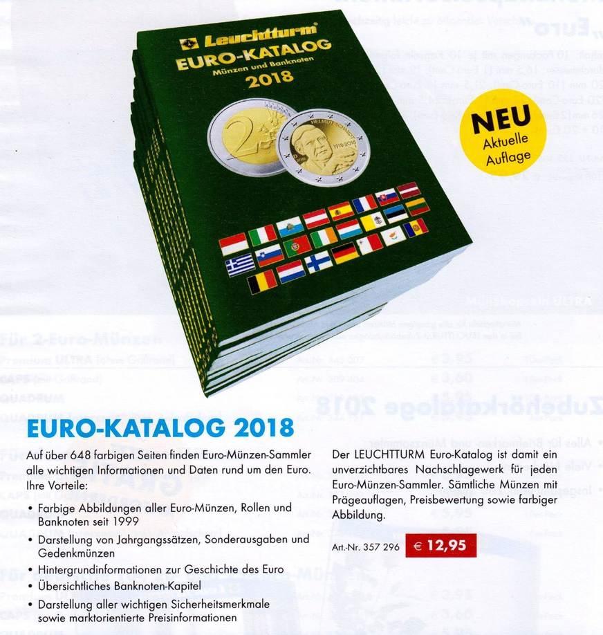 Münz Katalog 2018 Europa Euro Leuchtturm Euro Katalog 2018 648