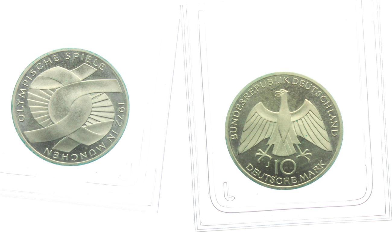 10 Mark 1972 J Deutschland Brd Olympische Spiele 1972 In München