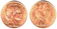 20 Francs 1898-1914 Frankreich Marianne/ Gallischer Hahn vz/st  239,00 EUR  zzgl. 6,95 EUR Versand