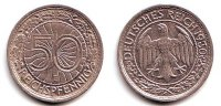 Drittes Reich 50 Reichspfennig 50 Reichspfennig