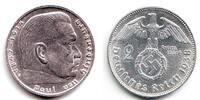 Drittes Reich 2 Reichsmark Paul von Hindenburg