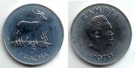 Sambia 5 Kwacha Moorantilope