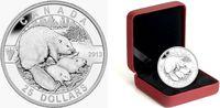 Kanada 25 Dollar 1 Silber-Unze - Biber mit Jungen