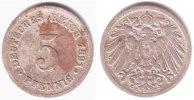 Kaiserreich 5 Pfennig Kursmünze, großer Adler