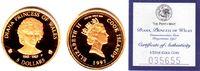 Cook Inseln 5 Dollar 1/25 Unze Goldmünze - Lady Diana