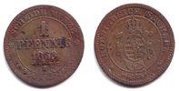 Sachsen 1 Neugroschen / 10 Pfennig Johann (1854-1873)