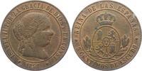 Spanien 5 Centimos Isabell II. (1833 - 1868)