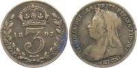 Großbritannien 3 Pence Victoria (1837 - 1901)