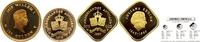 Niederländische Antillen - Curacao 50+100+300 Gulden Goldmünzen-Satz mit Königin Juliane (3 Münzen)