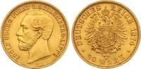 Schaumburg-Lippe 20 Mark Adolf Georg Fürst zu Schaumburg-Lippe (1860-1893)