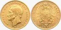 Sachsen 20 Mark König Johann von Sachsen (1854-1873)