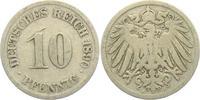 10 Pfennig 1890 J Kaiserreich 10 Pfennig - großer Adler s-ss  1,95 EUR  +  3,95 EUR shipping
