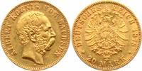 20 Mark 1878 E Sachsen König Albert von Sachsen (1873-1902) f.vz  24950,00 EUR kostenloser Versand