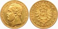 10 Mark 1874 B Oldenburg Nicolaus Friedrich Peter (1853-1900) ss+  6295,00 EUR kostenloser Versand