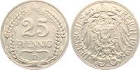25 Pfennig 1909 D Kaiserreich 25 Pfennig ss  7,95 EUR  zzgl. 2,95 EUR Versand