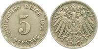 5 Pfennig 1902 D Kaiserreich 5 Pfennig - großer Adler f.vz  9,95 EUR  zzgl. 2,95 EUR Versand