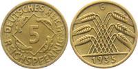 5 Reichspfennig 1935 G Weimarer Republik 5 Reichspfennig - Ährenbündel ... 8,00 EUR  zzgl. 2,95 EUR Versand