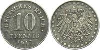 10 Pfennig 1917 A Ersatzmünzen des 1. Weltkrieges 10 Pfennig - mit Perl... 3,95 EUR  zzgl. 2,95 EUR Versand