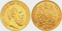 10 Mark 1873 F Württemberg König Karl von Württemberg (1864-1891) ss/vz... 298,00 EUR  zzgl. 6,95 EUR Versand