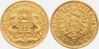 20 Mark 1878 J Hamburg Wappen von Hamburg mit zwei Löwen ss/br.  319,00 EUR  zzgl. 6,95 EUR Versand
