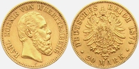 20 Mark 1874 F Württemberg König Karl von Württemberg (1864-1891) ss  445,00 EUR  zzgl. 6,95 EUR Versand