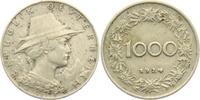 1000 Groschen 1924 Österreich Tirolerin mit Hut ss-vz  4,95 EUR  zzgl. 2,95 EUR Versand