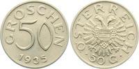 50 Groschen 1935 Österreich  vz-st  10,00 EUR  zzgl. 2,95 EUR Versand