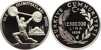 Türkei 2.500.000 Lira Olympische Spiele 2000 in Sydney - Gewichtheber