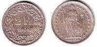Schweiz 2 Franken Stehende Helvetia mit Wappenschild