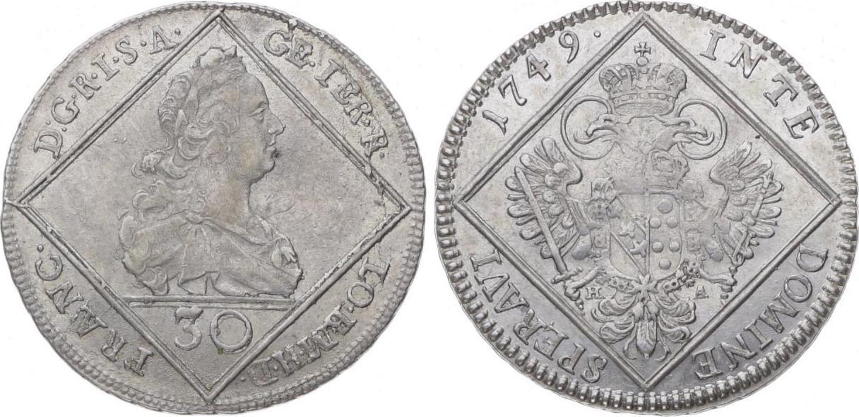 Römisch Deutsches Reich 30 Kreuzer 1749 Franz I. 1745-1765