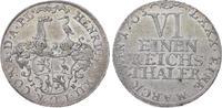 Reuss, jüngere Linie zu Schleiz 1/6 Taler Heinrich XII. 1744-1784.