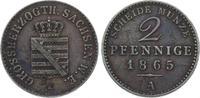 Sachsen-Weimar-Eisenach 2 Pfennig Carl Alexander 1853-1901.